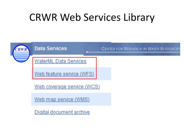 CRWR Web Services Library