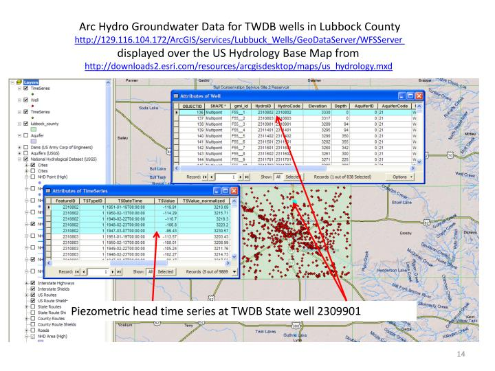 Arc Hydro Groundwater Data for TWDB wells in Lubbock County