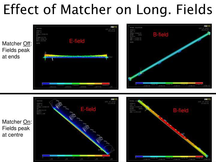 Effect of Matcher on Long. Fields