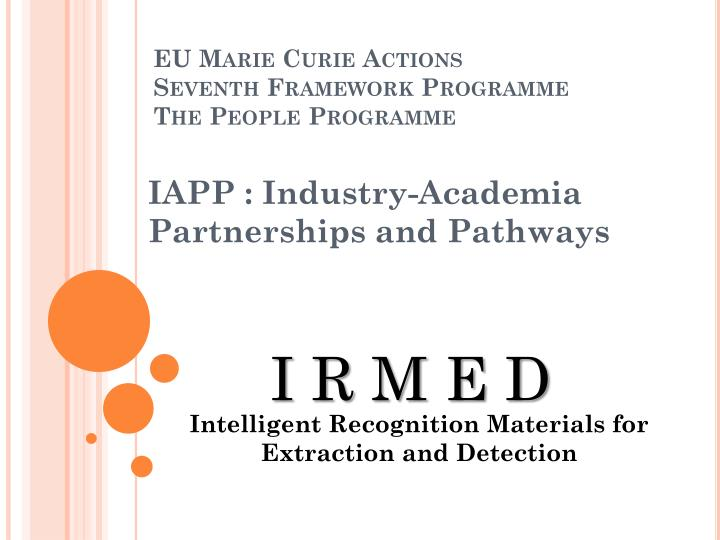 eu marie curie actions seventh framework programme the people programme n.