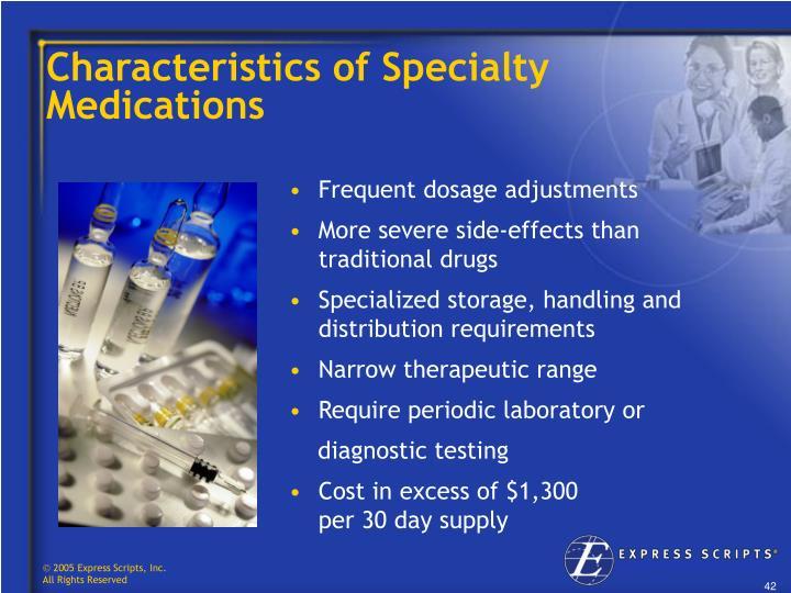 Characteristics of Specialty Medications