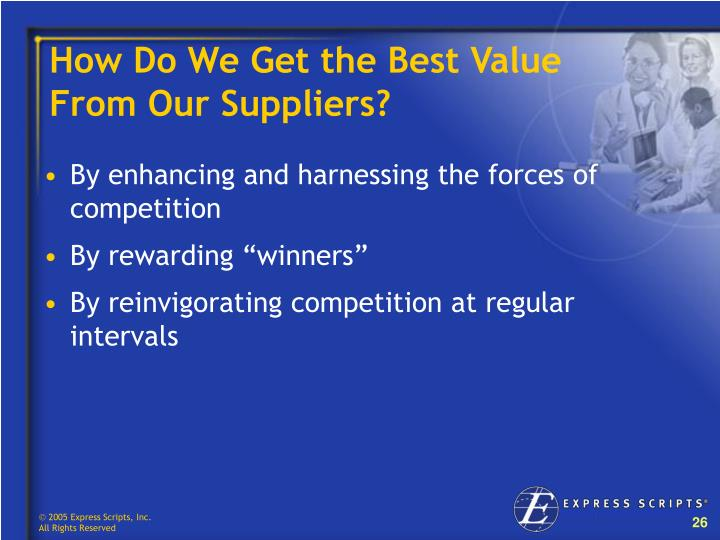 How Do We Get the Best Value