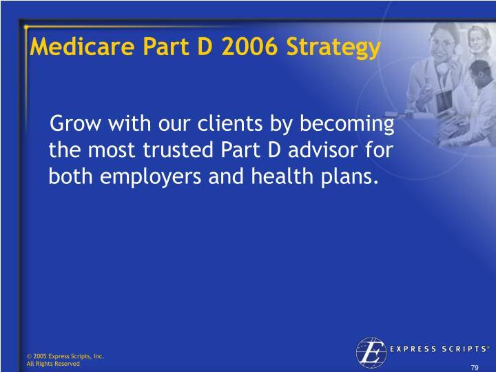 Medicare Part D 2006 Strategy