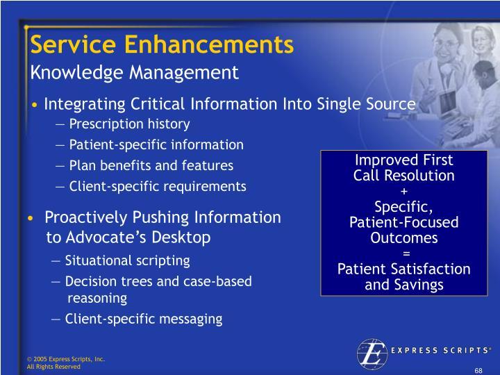 Service Enhancements