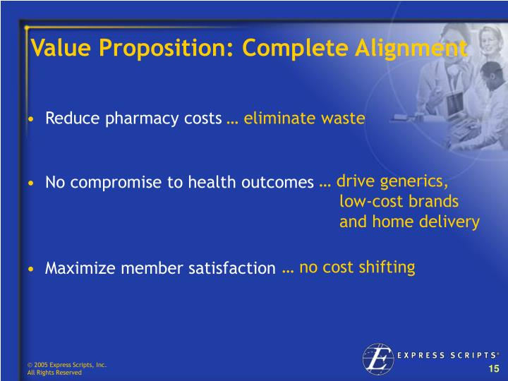 Value Proposition: Complete Alignment