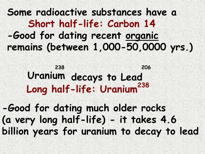 Some radioactive substances have a