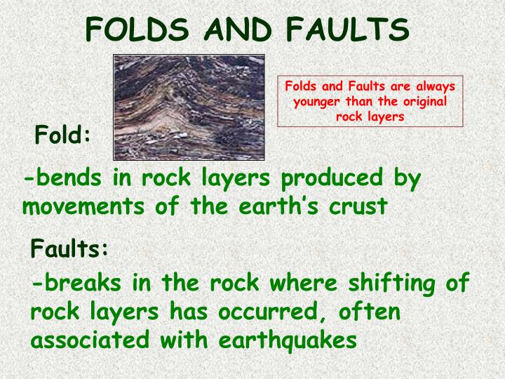 FOLDS AND FAULTS