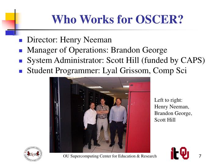 Who Works for OSCER?