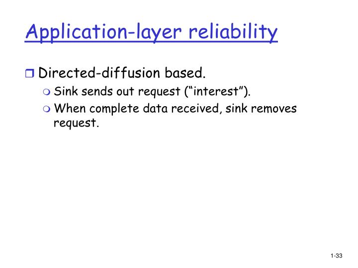 Application-layer reliability