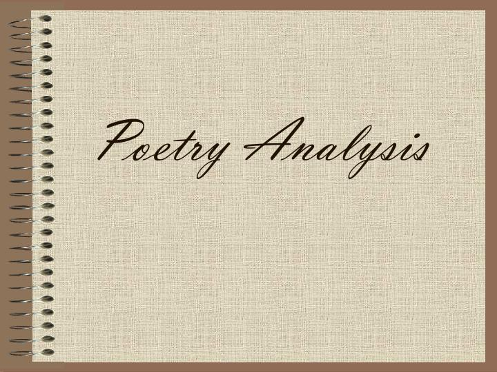 poetry analysis n.