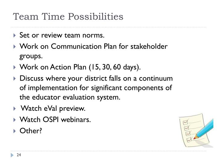 Team Time Possibilities