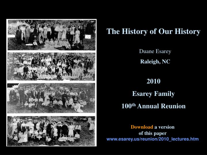 the history of our history n.