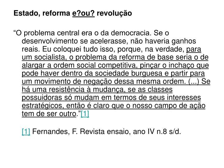 Estado, reforma