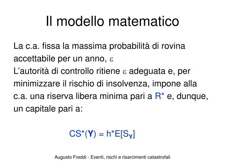 Il modello matematico