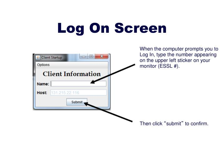 Log On Screen