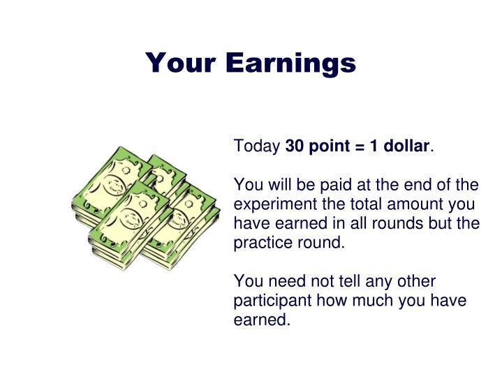 Your Earnings