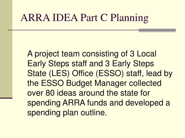 ARRA IDEA Part C Planning