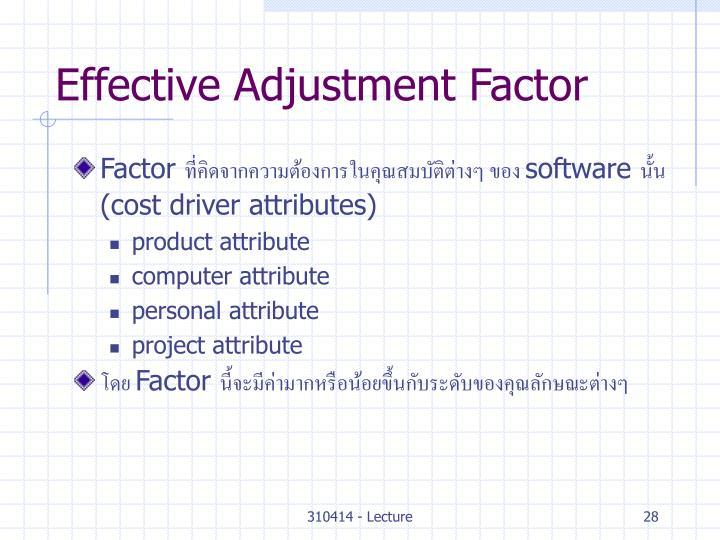 Effective Adjustment Factor