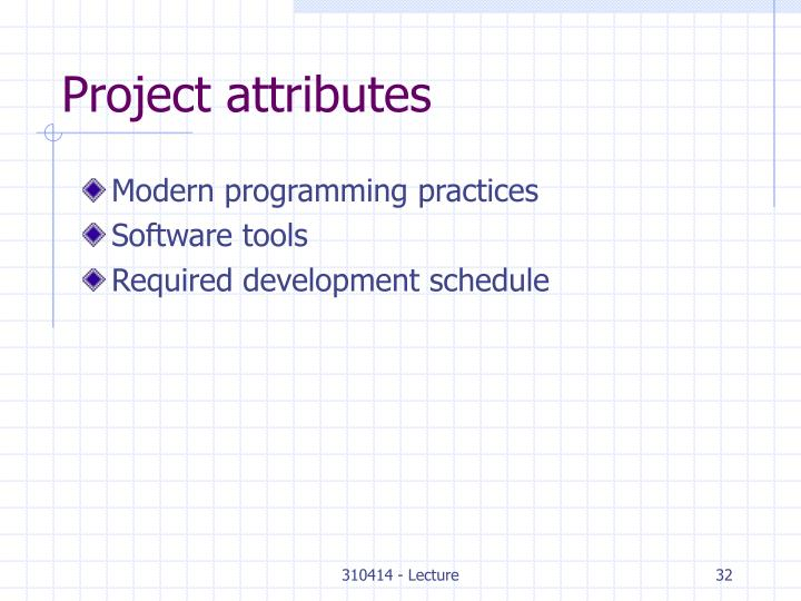 Project attributes
