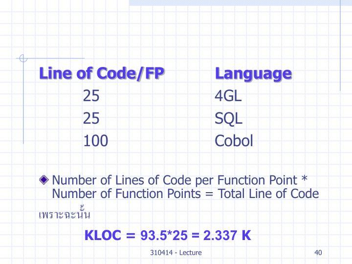 Line of Code/FPLanguage