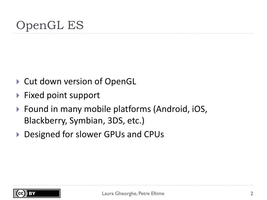 PPT - Lecture 8 - OpenGL on Android PowerPoint Presentation - ID:4081356