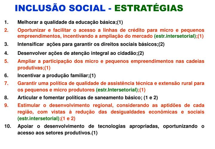 INCLUSÃO SOCIAL -
