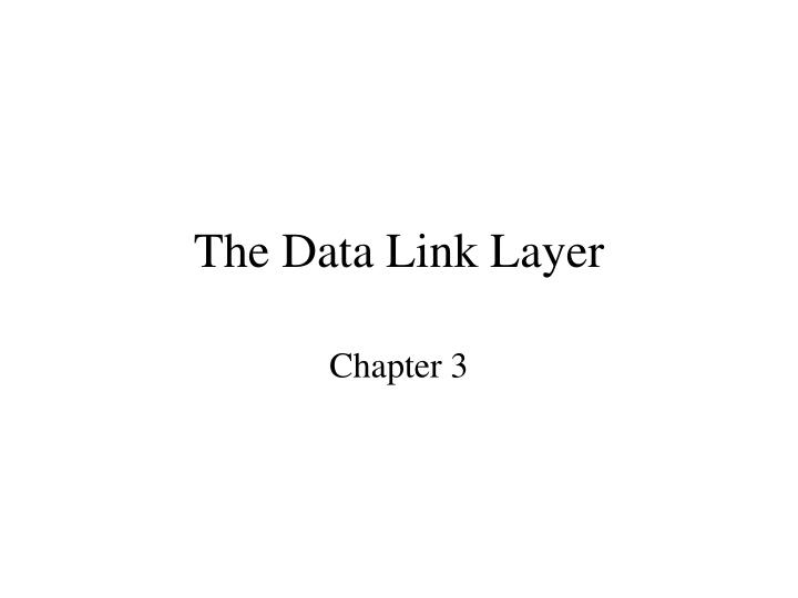 the data link layer n.