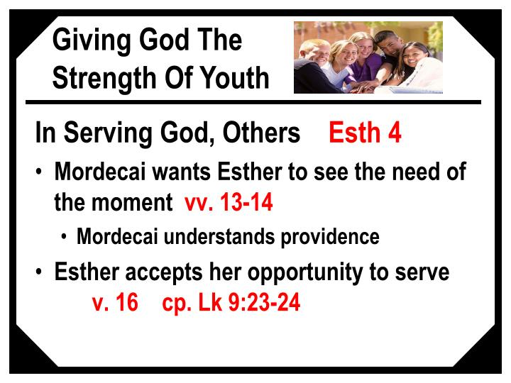 In Serving God, Others