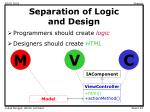 separation of logic and design