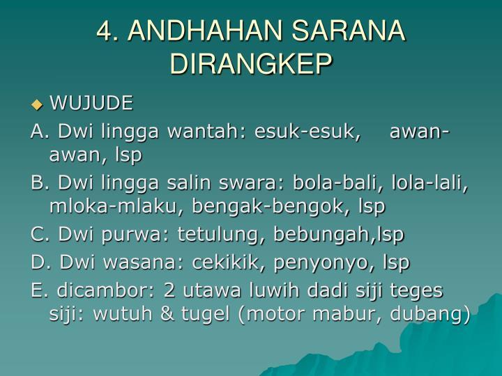 4. ANDHAHAN SARANA DIRANGKEP