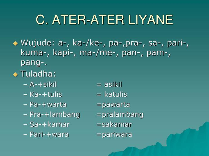 C. ATER-ATER LIYANE