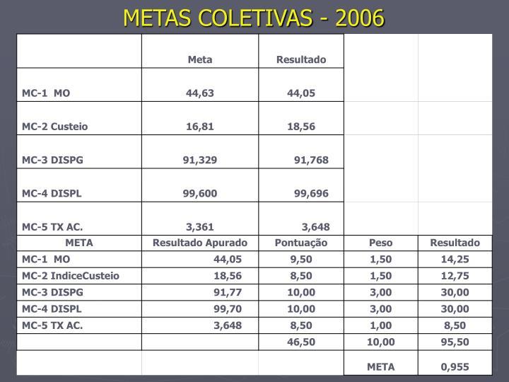 Metas coletivas 2006