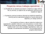 proyectos versus trabajos operativos 2