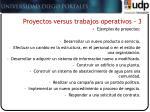 proyectos versus trabajos operativos 3
