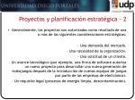 proyectos y planificaci n estrat gica 2