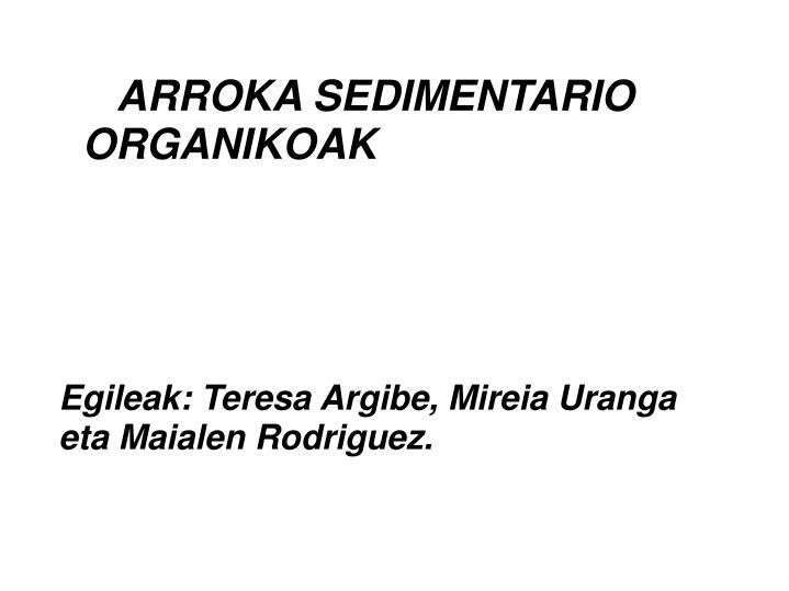 Arroka sedimentario organikoak