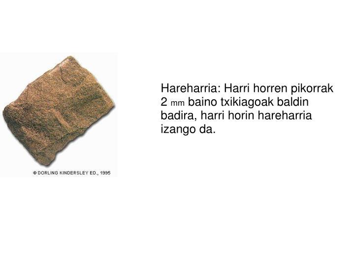 Hareharria: Harri horren pikorrak 2