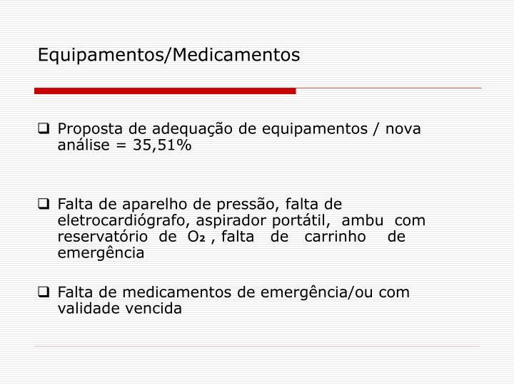 Equipamentos/Medicamentos