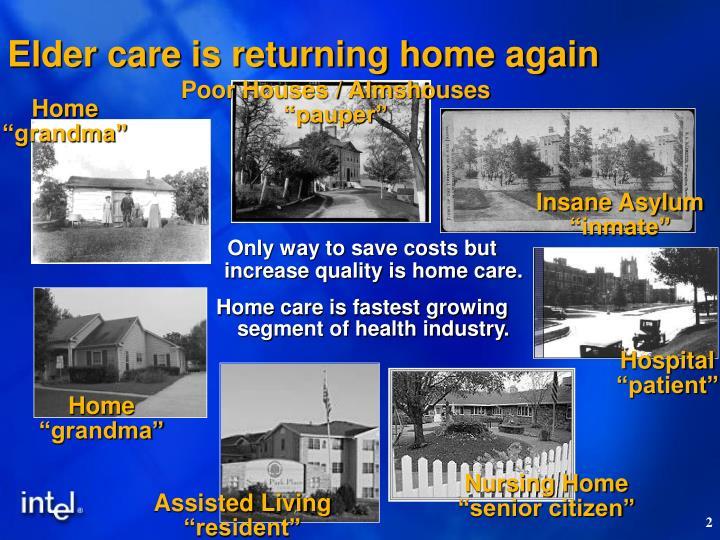 Elder care is returning home again