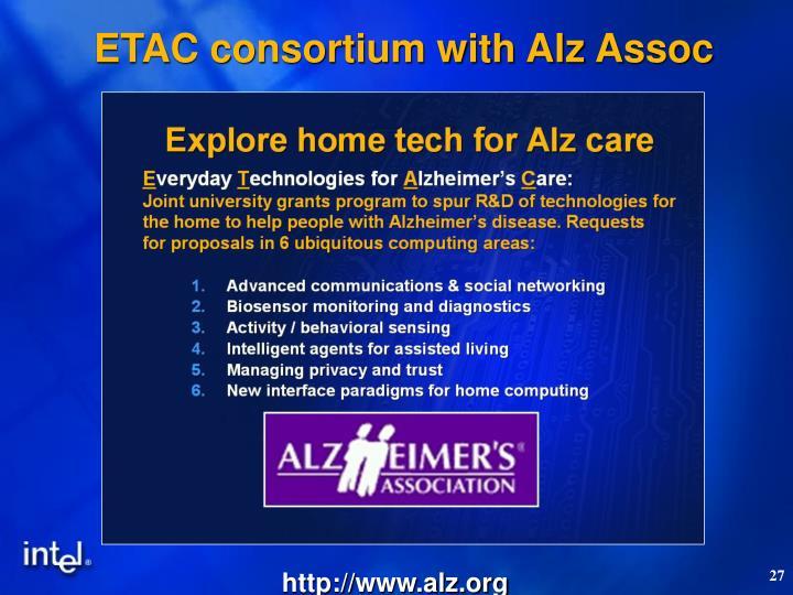 ETAC consortium with Alz Assoc