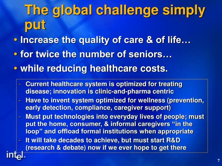 The global challenge simply put