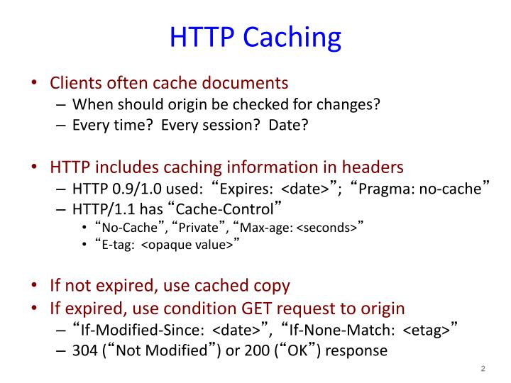 Http caching