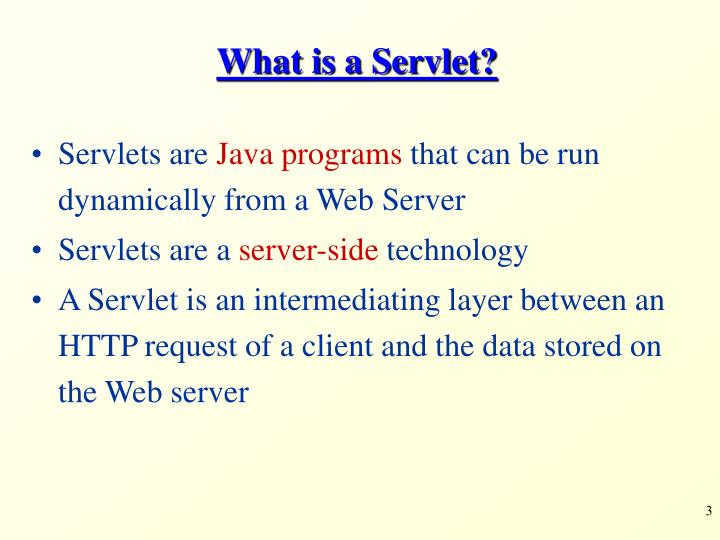 What is a servlet