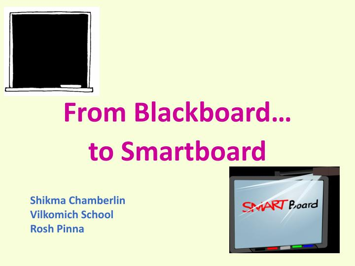 From Blackboard…