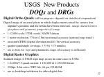 usgs new products doqs and drgs