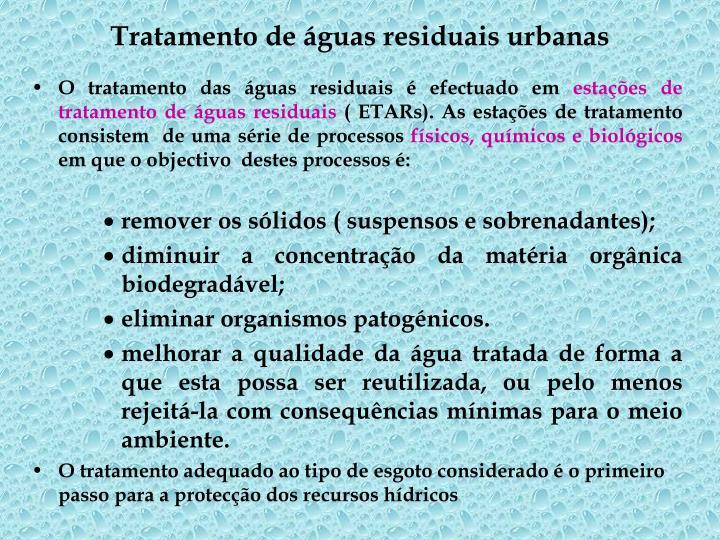 Tratamento de guas residuais urbanas