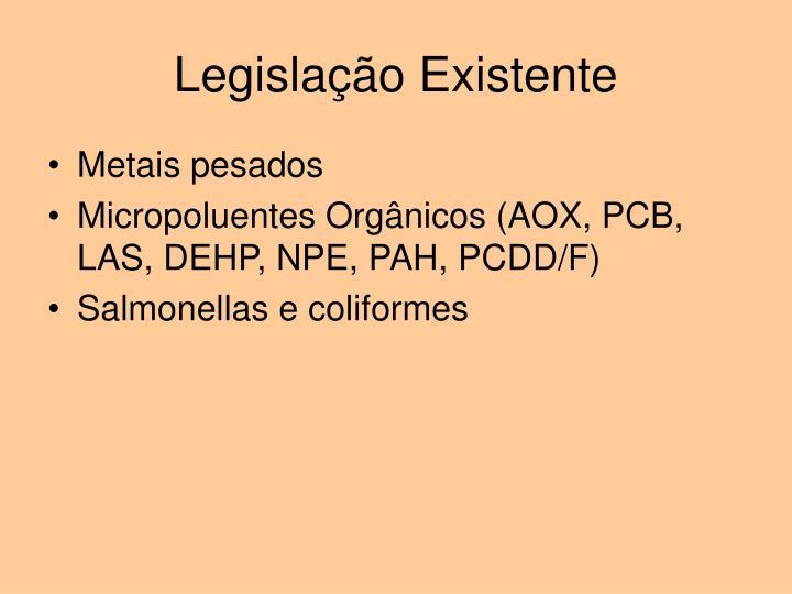 Legislação Existente