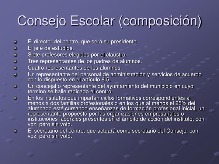 Consejo Escolar (composición)