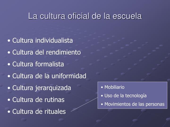 La cultura oficial de la escuela