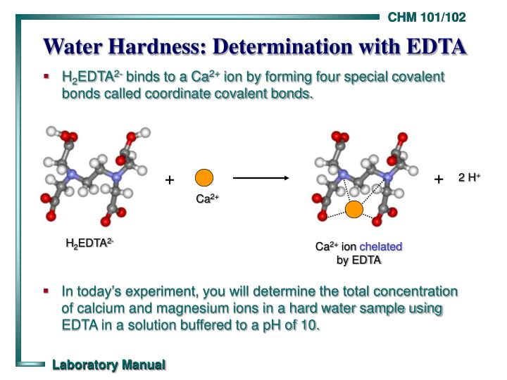 lab 3 determinates of water hardness Etph 151 applied physics lab- i analysis of water-alkalinity, hardness and its determination matrices and determinates.